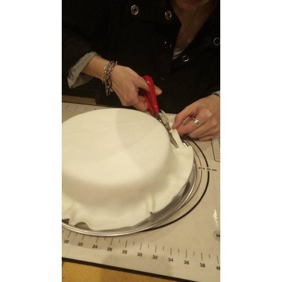 Pâte à sucre blanche prête à dérouler vanille 36cmx4mm 430g