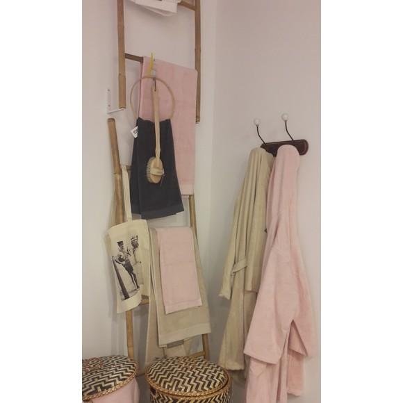 Asciugamano viso in cotone rosa 50x100cm