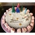 Sujets décoratifs pour gâteau la reine des neiges Anna Olaf