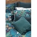 Fodera per cuscino rettangolare in lino verde 30x50cm