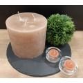 12 bougies chauffe plat corail