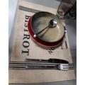 Tovaglietta americana in juta con scritte nere 45x30 cm