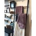 Echelle porte serviette en bambou anthracite 50x190cm