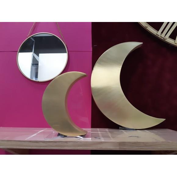2 lunes métal doré 28X2cm 50X30cm