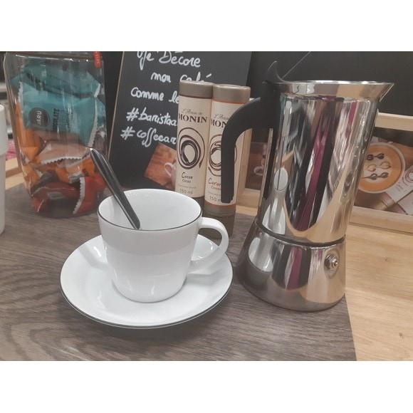 Cafetière italienne en inox 6 tasses Venus