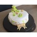Pâte à sucre vert citron aromatisée vanille 100g