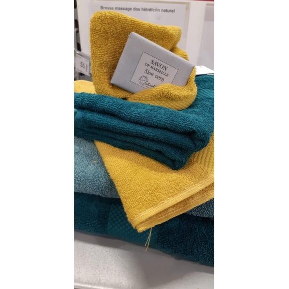 Asciugamano bidé in spugna di cotone 500gr, curry 30x50cm