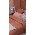 Copripiumino matrimoniale king size in cotone rosa