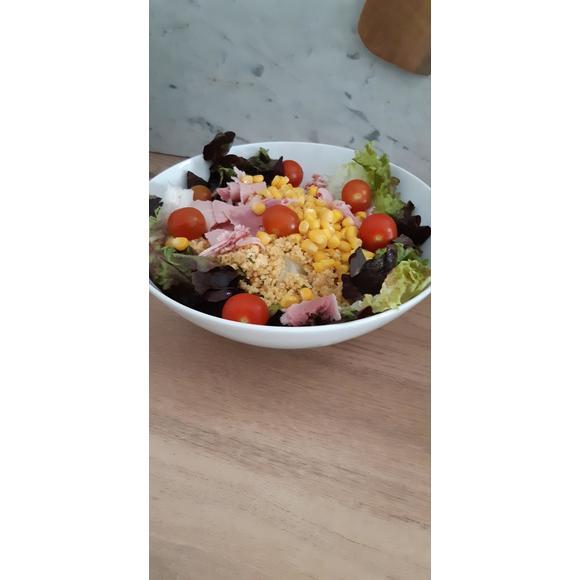 Bol à salade incliné blanc 23x10cm