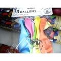 Set 10 ballons à gonfler imprimé anniversaire diamètre 25cm