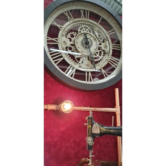 Orologio muro con ingranaggi 60,8x7cm