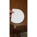 Corno arrotondato flessibile plastica bianco 15x11cm