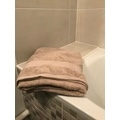 Asciugamano viso in spugna di cotone 500gr, tortora 50x90cm