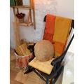 Galette chaise Otto ocre 38x38cm