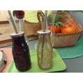 Bouteille en verre avec paille 31cl 3ass nude brique marsala