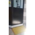 Tappeto da bagno rettangolare in spugna di cotone giallo 50x70