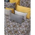 Cuscino rettangolare in cotone delavé grigio 30x50cm