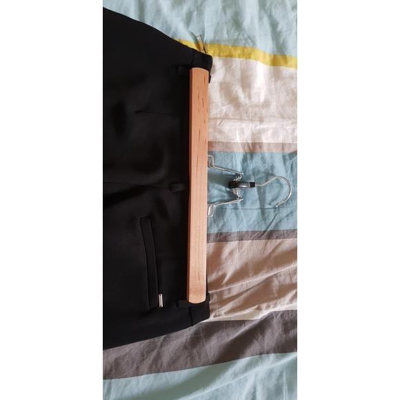 Set de 3 cintres en bois avec pince pour jupe ou pantalon