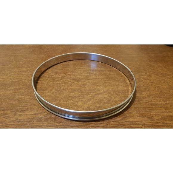 Cerchio per torta con bordo arrotondato in acciaio inox 20cm