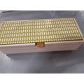 Couvercle en bois jaune réversible pour boite à bijoux