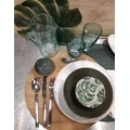 Set de table rond gris vert diamètre 38 cm