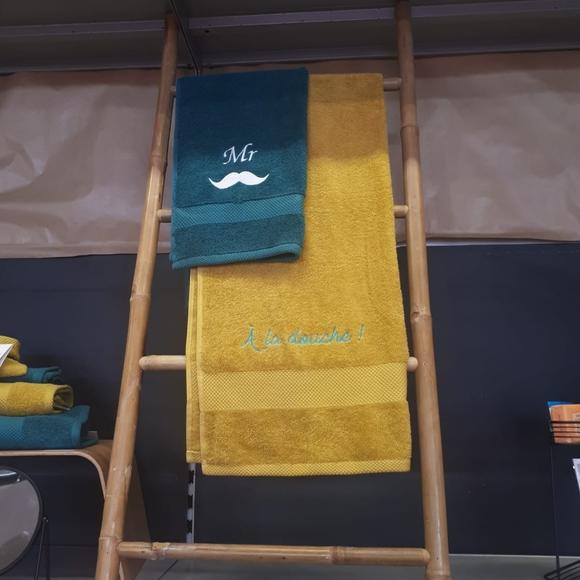 Asciugamano da doccia in spugna di cotone 500gr, curry 70x130cm