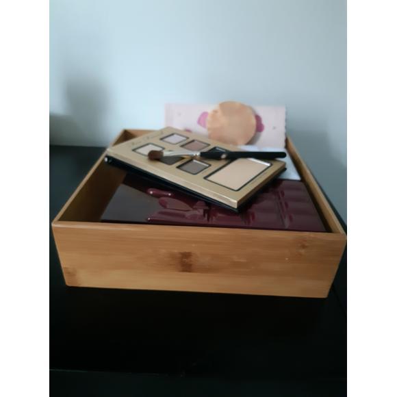 Organiseur de tiroir carré en bambou 15x15x6,5