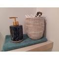 Distributeur de savon en porcelaine bleue Whitby