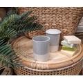 Pot à coton gris céramique Tania