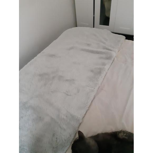 Plaid in ecopelliccia bianco 125x150cm