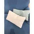 Cuscino rettangolare in cotone delavé rosa 30x50cm