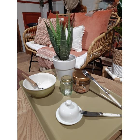 Vasetto esagonale con coperchio in vetro da 110 ml