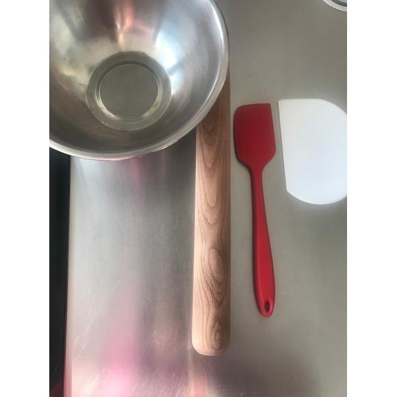 Ciotola fondo piatto in acciaio inox da 20 cm
