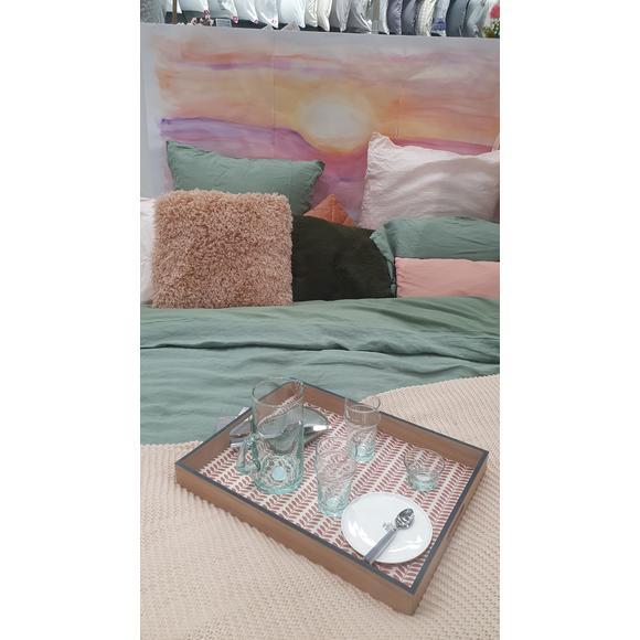 Cuscino quadrato in poliestere rosa 40x40cm