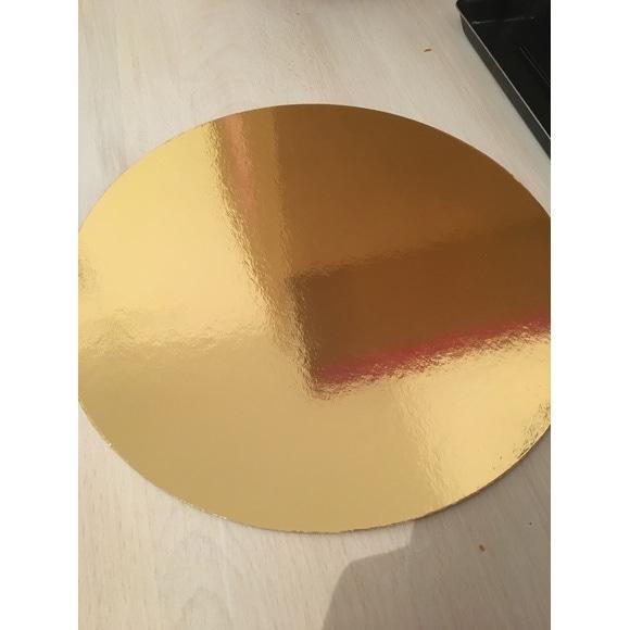 Set 5 sottotorta oro 24cm