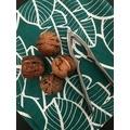Serviette de table 45x45 cm imprimé en coton malachite
