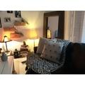 Cuscino quadrato in cotone pompons grigio 40x40cm