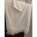 Asciugamano doccia bianco Barocco 70x140cm