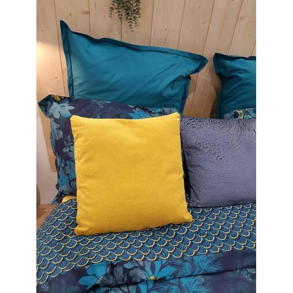 Cuscino quadrato in velluto a coste verde 40x40cm