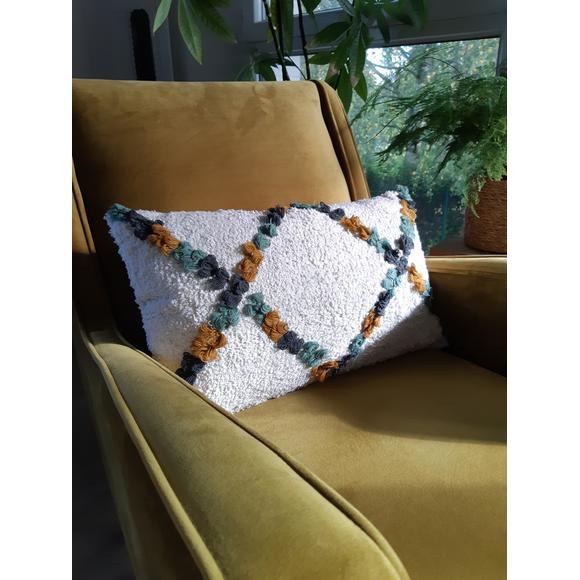 Cuscino rettangolare in cotone giallo 30x50cm