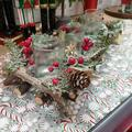 Support bougie centre de table sapin