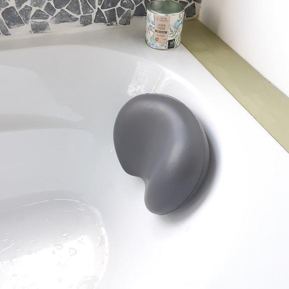 Coussin de baignoire gris