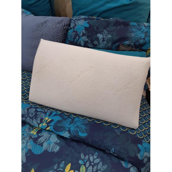 Oreiller rectangle à mémoire de forme Visco végétal 33x60cm