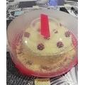 Cloche torta fucsia 32cm