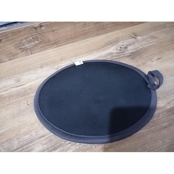 Manique de cuisine ovale en coton et silicone noir Tymeo