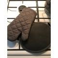 Manique de cuisine ovale en coton et silicone zinc Tymeo