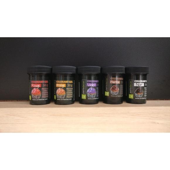 Colorant alimentaire en gel noir 30g