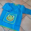 Tablier de peinture pour enfant bleu et vert 110 à 135cm