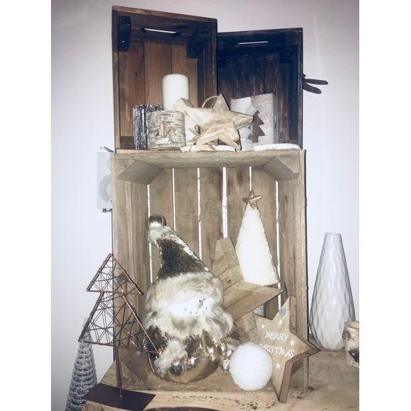 Caisse de rangement en bois vintage 31x21x19cm
