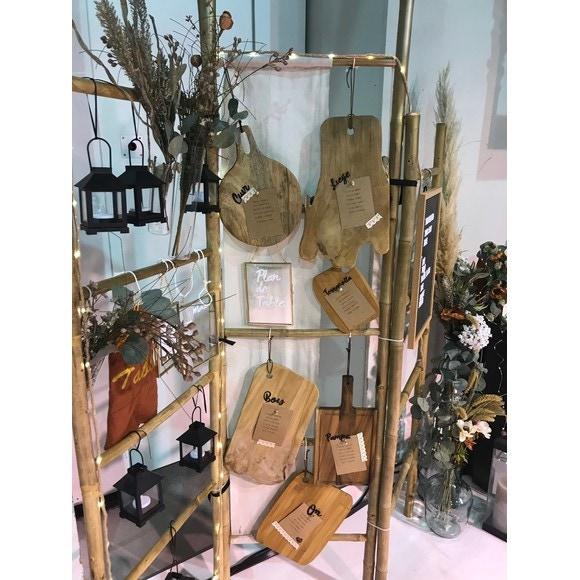 Set di 3 taglieri in bamboo, 37x28-28,5x21,5-18,5x14cm
